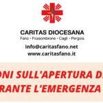 Nuove indicazioni sui servizi di Caritas diocesana